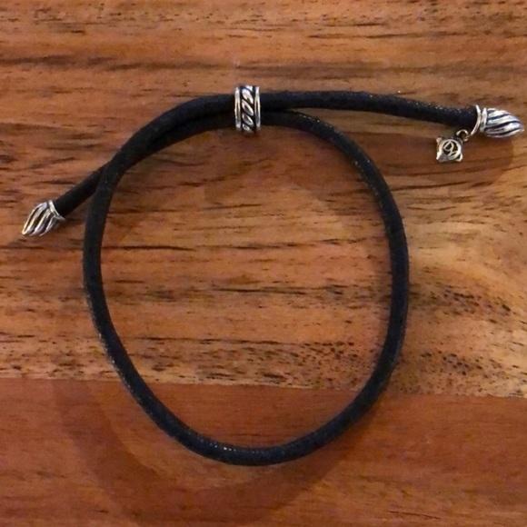 David Yurman Jewelry - Black Tie David Yurman Bracelet